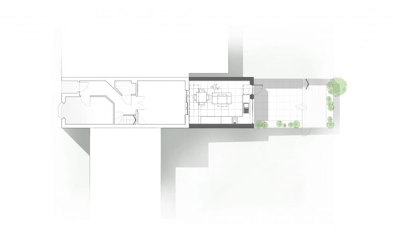 Skylark Way minimalist extension plan by Tait Architects