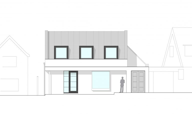 Concept contemporary renovation elevation Tait Architects