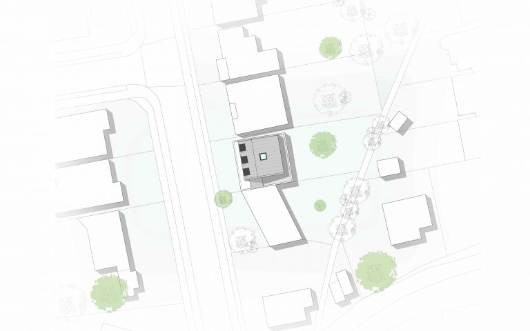 Concept contemporary renovation site plan Tait Architects