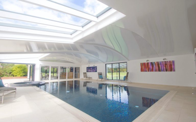 Modern home pool berkshire curved ceiling