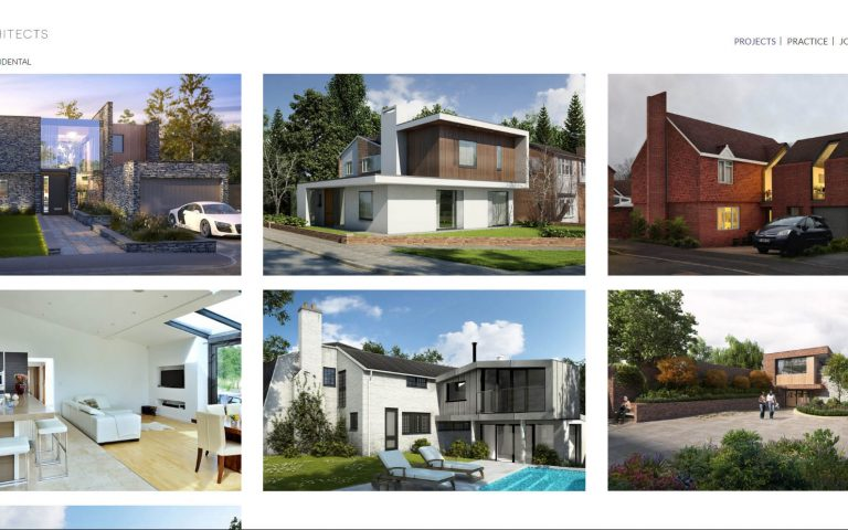 Tait architect website - Project page