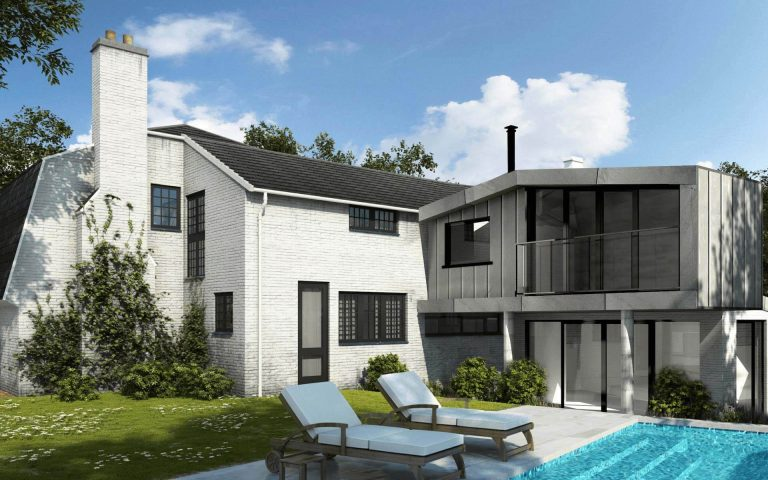 Tait Architects modern large extension with pool Berkshire